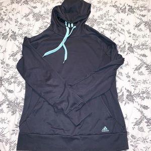 Adidas Dark Gray Hooded Sweatshirt